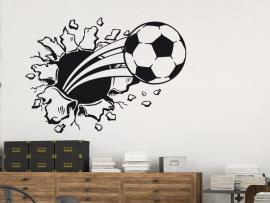 Autocolante Balão de Futebol 3D