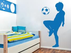 autocolante vinill jogador de futebol infantil