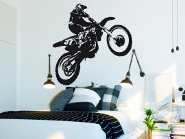 autocolante vinil moto cross mota