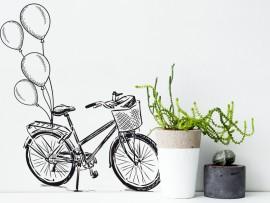 autocolante vinil bicicleta vintage balões