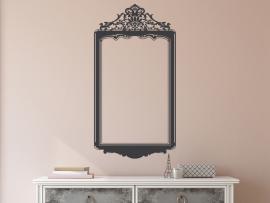 autocolante vinil espelho barroco quadro