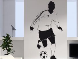 autocolante vinil jogador futebol futebolista
