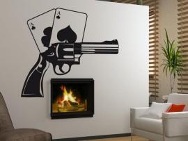 autocolante vinil poker revolver