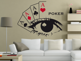 sticker autocolante poker deco