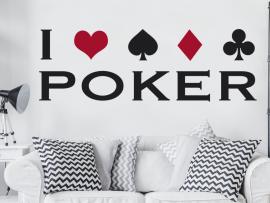 autocolante vinil i love poker