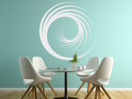 autocolante vinil espiral ilusao