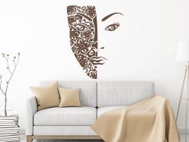 Autocolante Máscara Africano