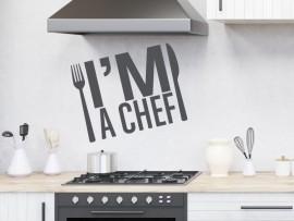 Autocolante I'm a Chef