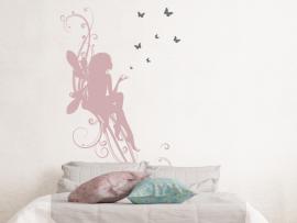 autocolante fada borboleta infantil