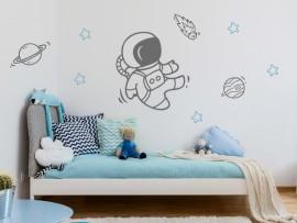 Autocolante vinil astronauta espaço