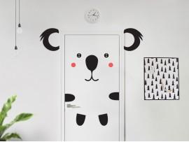 autocolante vinil koala na porta infantil