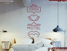 Autocolante Retro Love Motel