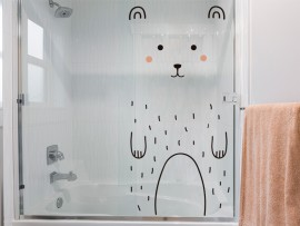 autocolante vinil urso ursozinho porta