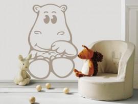 autocolante vinil hipopotamo infantil